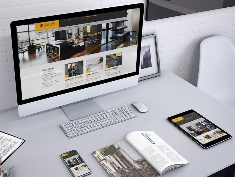 izrada sajta za renator entreprenad