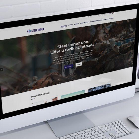 izrada sajta za steel impex