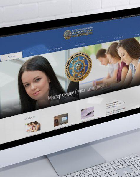 izrada sajta za vbs za visoku brodarsku školu akademskih studija