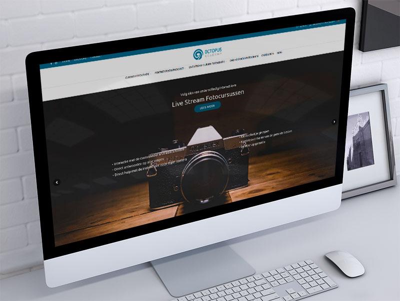 redizajn sajta za octopus academy holandija