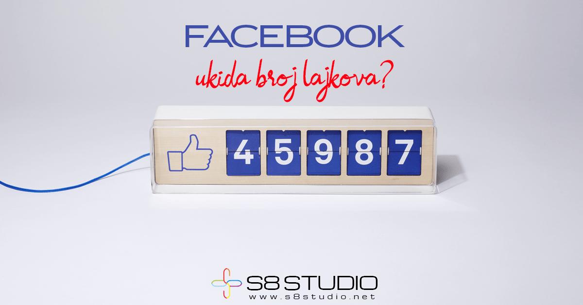 Facebook ukida broj lajkova