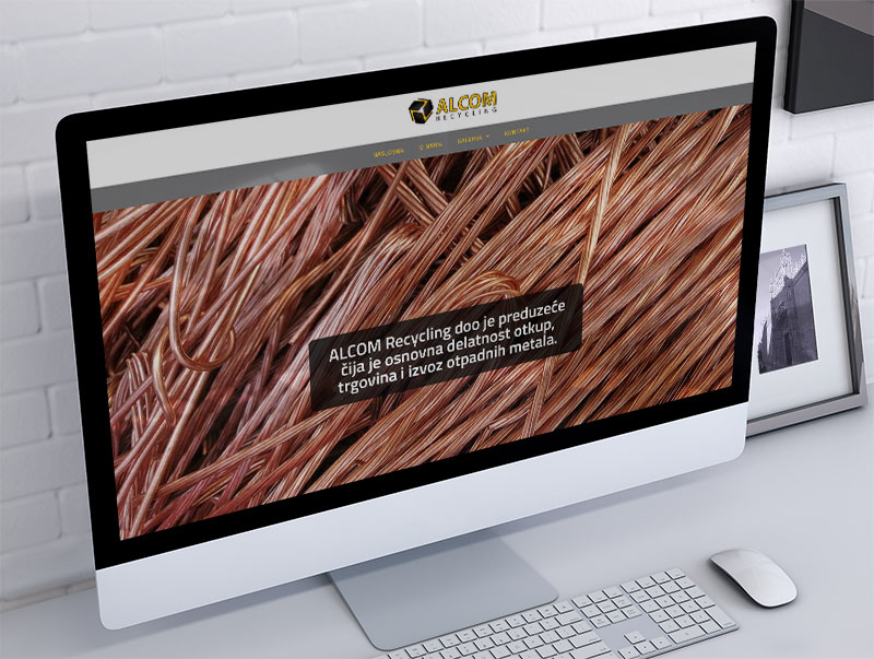 izrada sajta za alcom recycling