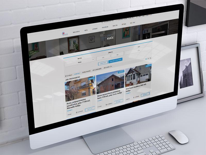 izrada sajta za centar nekretnine