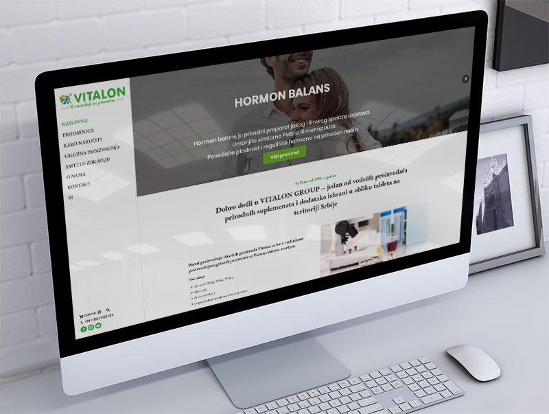 izrada sajta za vitalon