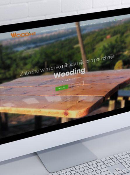 izrada sajta i internet prodavnice za wooding novi sad