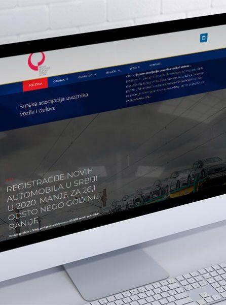 izrada sajta za srpsku asocijaciju uvoznika vozila