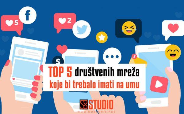 top 5 društvenih mreža